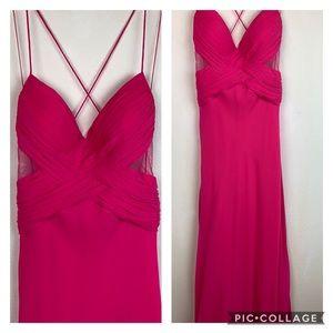 Cache silk grecian formal maxi dress, prom wedding